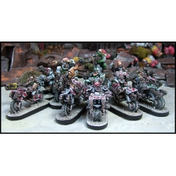 Assembled Dwarf Bikers, example