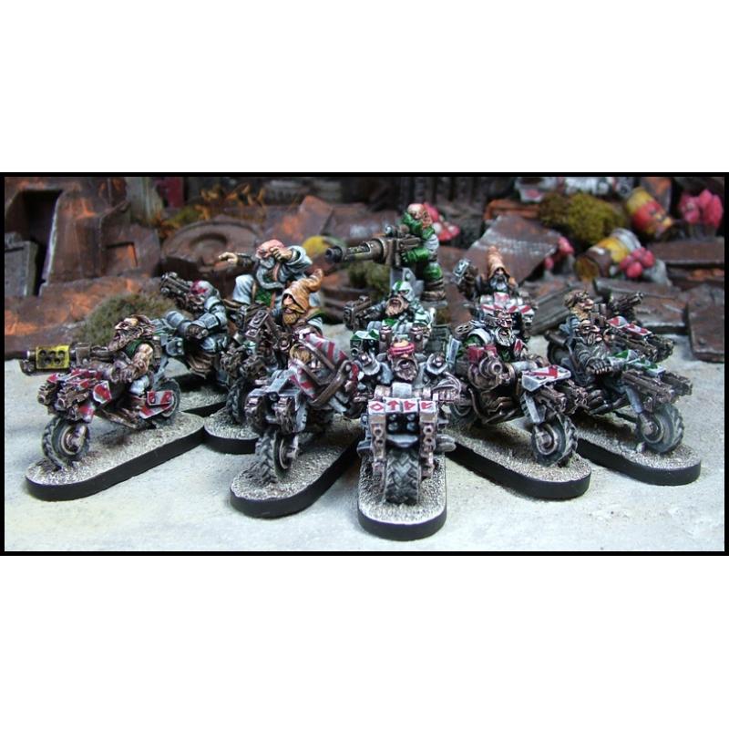 Assembled Dwarf Bikers, example