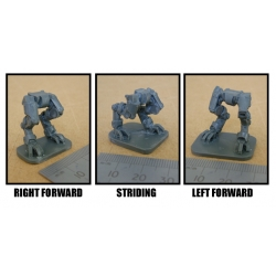 Various options on the legs, left or right forward.